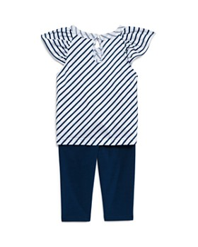 Splendid - Girls' Striped Tie Front Top & Leggings Set - Baby