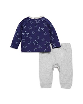 Bloomie's - Boys' Star Print Long Sleeve Tee & Jogger Pants Set, Baby - 100% Exclusive