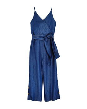 de59fca8344252 Habitual Kids - Girls' Chambray Jumpsuit with Sash - Big Kid ...