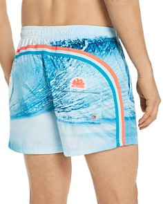 SUNDEK - Wave-Print Swim Shorts