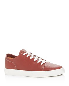 Harrys of London - Men's Pursuit Milled Leather Low-Top Sneakers