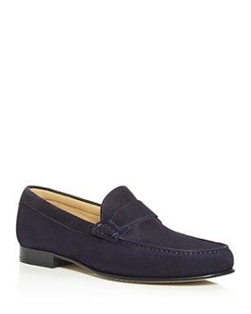 Canali - Men's Suede Moc-Toe Loafers