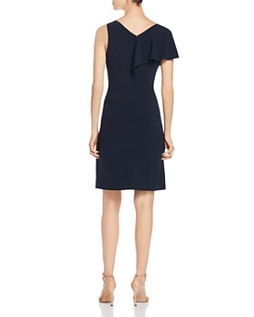 Elie Tahari - Kailey Ruffled V-Neck Dress