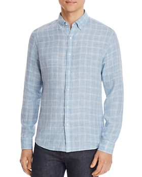 Michael Kors - Melange Linen Check Slim Fit Shirt