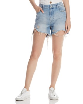 7ba242217 DL1961 - Hepburn Distressed Denim Shorts in Rains ...