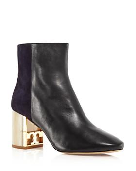 Tory Burch - Women's Gigi Leather & Suede Block Heel Booties
