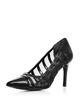 Charles David - Women's Vane Leather & Mesh Pumps