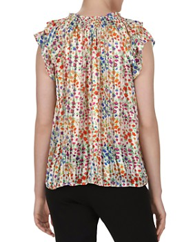 ba&sh - Ruby Flutter-Sleeve Floral Top