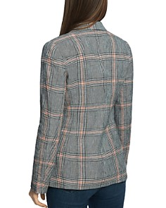 1.STATE - Plaid Double-Breasted Blazer