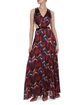 ba&sh - Herringbone Print Cutout Maxi Dress