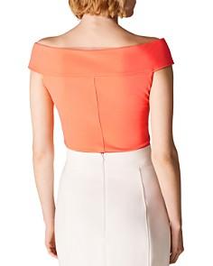 KAREN MILLEN - Short-Sleeve Off-the-Shoulder Top