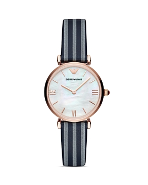 Armani Collezioni  EMPORIO ARMANI MOTHER-OF-PEARL DIAL WATCH, 32MM