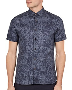 Ted Baker - Tygor Palm Print Slim Fit Shirt