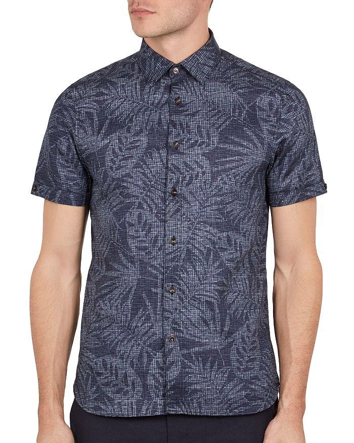 Ted Baker - Tygor Palm Print Slim Fit Shirt