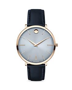 Movado - Ultra Slim Leather Strap Watch, 35mm