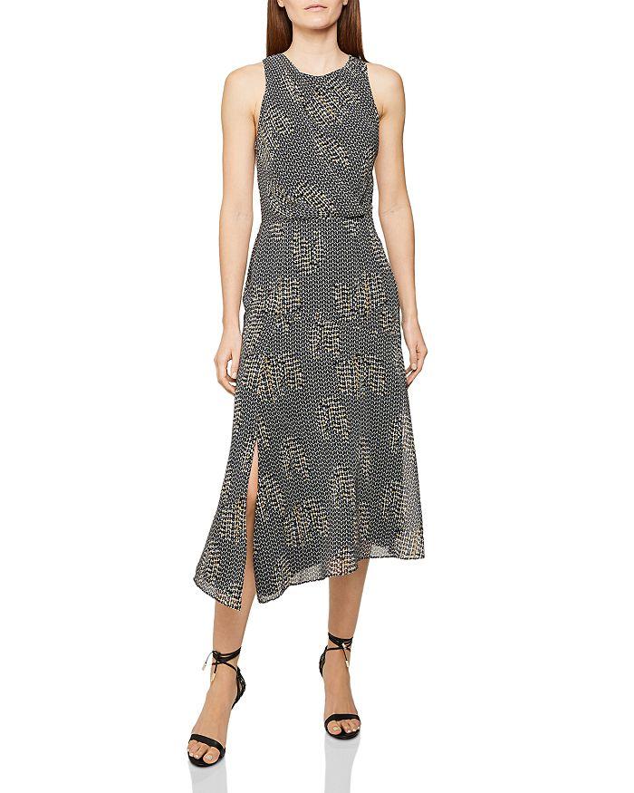 REISS - Naima Back-Cutout Midi Dress