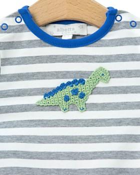 Albetta - Boys' Crochet-Dinosaur Coverall - Baby