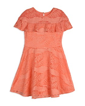 8b6c89f88562 Pippa & Julie - Girls' Lace Illusion Sleeve Dress ...