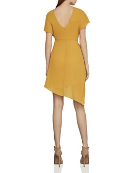 dc86f898e5b0 BCBGMAXAZRIA - Draped Asymmetric Chiffon Dress BCBGMAXAZRIA - Draped  Asymmetric Chiffon Dress
