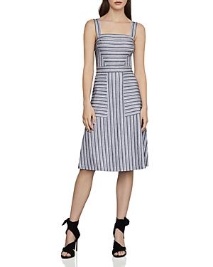 Bcbgmaxazria Dresses STRIPED A-LINE DRESS