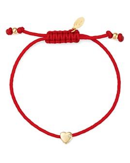Zoe Lev - 14K Yellow Gold Red Heart Fortune Diamond Bracelet