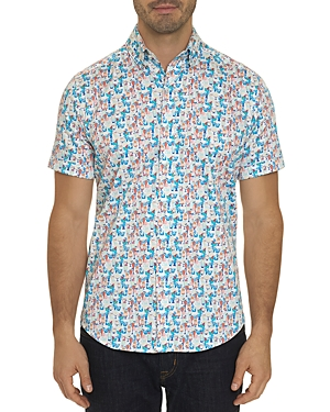 Robert Graham Short-Sleeve Tiny-Cocktails Print Classic Fit Shirt-Men