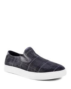 Robert Graham - Men's Kerby Leather Slip-On Sneakers