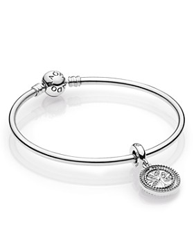 Pandora - Family Tree Sterling Silver Bangle Bracelet