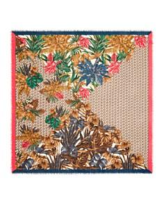 Salvatore Ferragamo - Tropical Gancini Wool Scarf