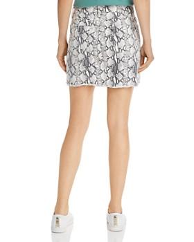 FRAME - Le Mini Snake Print Denim Skirt