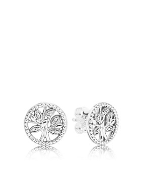 0767d76ff Pandora - Sterling Silver Tree of Life Stud Earrings. Quick View