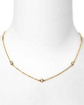 Crislu - Crislu Cubic Zirconia Accented Chain Necklace