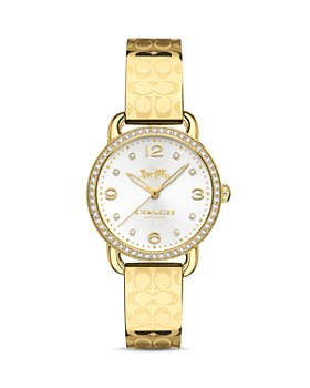 COACH - Delancey Pavé-Detail Logo Bangle Watch, 28mm