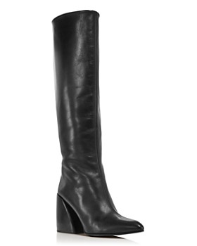Chloé - Women's Wave Leather Block-Heel Boots