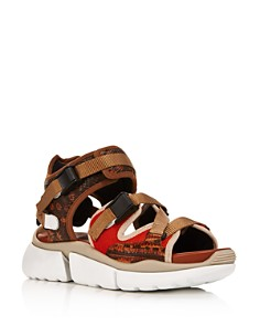 Chloé - Women's Sonnie Mixed Media Sneaker Sandals