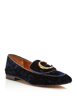 Chloé - Women's C Flat Velvet Loafers - 100% Exclusive