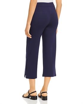 Lyssé - Slit Wide-Leg Cropped Pants
