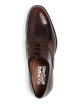 Salvatore Ferragamo - Men's Tiberio Leather Plain-Toe Oxfords