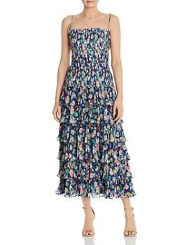 04403b7812d Amur - Viola Pleated Floral Dress ...