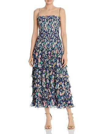 Amur - Viola Pleated Floral Dress
