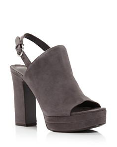 Salvatore Ferragamo - Women's Ancona Suede Block-Heel Sandals