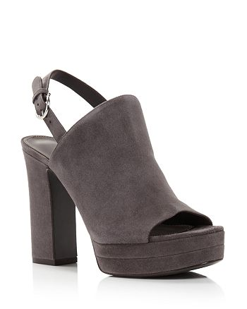 Salvatore Ferragamo - Women's Ancona Suede Block-Heel Sandals