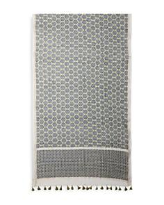 Gerard Darel - Angelique Tassel Tile Print Scarf