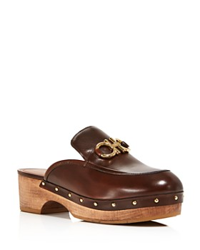 85dce8b217ce4 Salvatore Ferragamo - Women's Cleo Leather Clogs ...