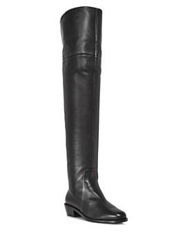 Salvatore Ferragamo - Women's Bucaneve Over-the-Knee Leather Boots