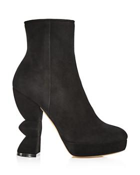 Salvatore Ferragamo - Women's Calla Suede High-Heel Platform Boots