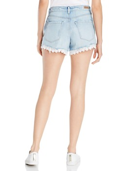 BLANKNYC - Eyelet-Trim Denim Shorts in No Thrills
