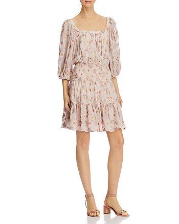 Rebecca Taylor - Leander Metallic Floral Dress