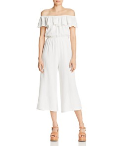 AQUA - Off-the-Shoulder Wide-Leg Jumpsuit - 100% Exclusive