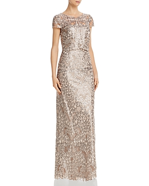 Adrianna Papell Tops SEQUIN-EMBROIDERED GOWN